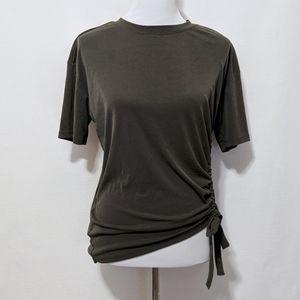 Mossimo Uniform Green Asymmetric Tee | S